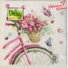 Serwetka    różowy rower