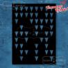 maska/szablon do embossingu - trójkąty strzałki 50