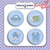 Plakietki/ buttony ozdobne niemowlęce chłopczyk