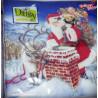 Serwetka  Mikołaj przy kominie