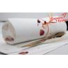 Papier czerpany biały z płatkami rózy A4, 150 gsm
