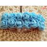 Kwiaty z pianki błękitne