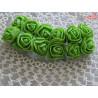 Kwiaty z pianki zielone