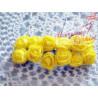 Kwiaty z pianki żółte