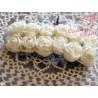 Kwiaty z pianki ecru