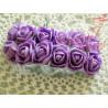 Kwiaty z pianki liliowe