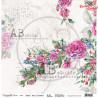 """Papier do scrapbookingu """"Enchanted flowers"""" 3/4 -  30x30"""