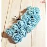 Kwiaty z pianki jasno-niebieskie
