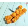 Kwiaty z pianki pomarańczowe