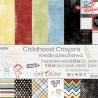 CHILDHOOD CRAYONS - zestaw papierów 30,5x30,5cm