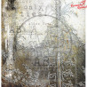 "Papier do scrapbookingu ""Behind closed doors""- sheet 3 - 30x30"