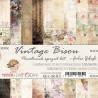 VINTAGE BISOU - zestaw papierów 15,25x15,25cm/pocałunek sprzed lat