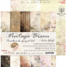 VINTAGE BISOU - zestaw papierów 20,3x20,3cm/pocałunek sprzed lat
