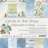 CAROLS IN THE SNOW - zestaw papierów 20,3x20,3cm /kolędowanie w śniegu