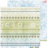 CAROLS IN THE SNOW - 02 - dwustronny papier 30,5x30,5cm /kolędowanie w śniegu