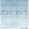 CAROLS IN THE SNOW - 04 - dwustronny papier 30,5x30,5cm /kolędowanie w śniegu