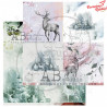 "Papier do scrapbookingu ""Secret wood""- sheet 1 - 30x30"