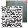 """Elementy do wycinania  - """"White-butterfly"""" 12'x12'"""