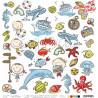 Kredki dzieciństwa - VIII - arkusz dodatków do wycięcia - WAKACJE