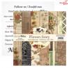Mały bloczek papieru - FLOWERS STORY/09 ScrapBoys 15x15cm