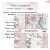 Mały bloczek papieru - DREAM GARDEN/09 ScrapBoys 15x15cm