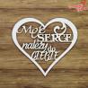 00451 Tekturka Ramka Moje serce