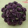 Kwiaty Róże 15mm Plum 10szt.  /14
