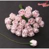 Kwiaty Pączki Róży Pale Pink 0,8cm-1cm 10szt. / 45