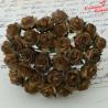 Kwiaty Róża 25mm 2 Tone Chocolate 10szt. / 46