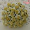 Kwiaty Róża 25mm Żółta-dwa odcienie 10szt.  / 47