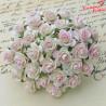 Kwiaty Róża 25mm Kość słoniowa -różowa10szt. /80
