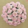 Kwiaty Róże 15mm 2 tone Baby Pink Ivory 10szt. /85