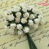 Kwiaty Pączki Róży Ivory 0,8cm-1cm 10szt.   /91