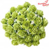 Kwiat Róża 15mm Limonkowe  /92