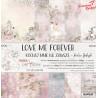 LOVE ME FOREVER - zestaw papierów 30,5x30,5cm /CraftO'Clock
