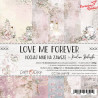 LOVE ME FOREVER - zestaw papierów 15,25x15,25cm /CraftO'Clock