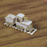 00492 Tekturka 3D Pociąg 3D (do exploding boxa)