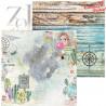 """Mały bloczek papierów   """"Beautiful Journey """"/15,25x15,25 cm/ZoJu Design"""
