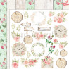 Dwustronny  papier z elementami Raspberry Garden 03 -  /30x30cm- Lemoncraft