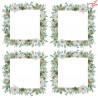 Mały zestaw papierów papier  15x15 cm/ Białe jak śnieg -  / Paper Heaven