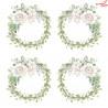 Zestaw papierów z elementami Niewinność -flowers  /  15x15cm