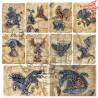 """Elementy do wycinania """"Steampunk cards"""" -arkusz 30x30cm"""