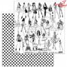 """Elementy do wycinania """"Independent woman"""" -arkusz 30x30cm"""