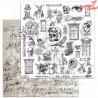 """Elementy do wycinania """"Steampunk melody"""" -arkusz 30x30cm"""