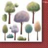 Zestaw dwustronnych papierów z elementami Za siedmioma górami -FLOWERS - Paper Heaven