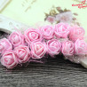 Kwiaty z pianki różowe Z TIULEM