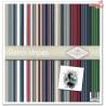 Zestaw papierów 30x30 - Retro stripes paseczki, stare foto/SLS-016
