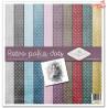 Zestaw papierów 30x30 - Retro polka dots/ dziecięce portrety, kropeczki/SLS-015