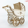 1475 Tekturka - Wózek dziecięcy Retro 3D