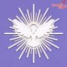 358 Tekturka - Gołąb z promieniami 3 2D - G09 / Crafty Moly